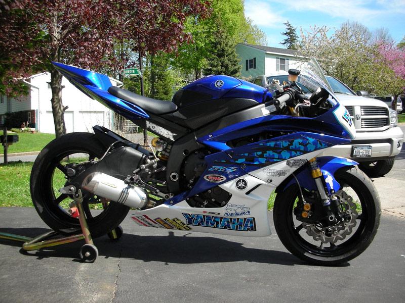 Custom Blue Yamaha r6 Custom Blue Camo For a Yamaha