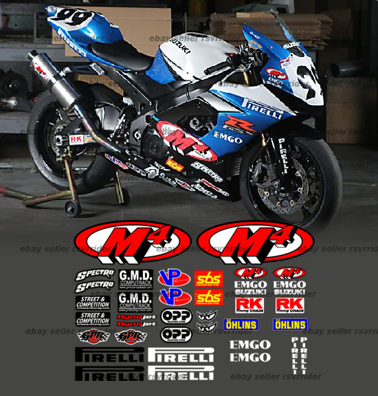 Custom Racestreet Graphics Decals Stickers X Forums - Custom motorcycle stickers racing